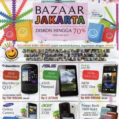 Brosur BAZAAR JAKARTA Dinomarket (Juni 2013)