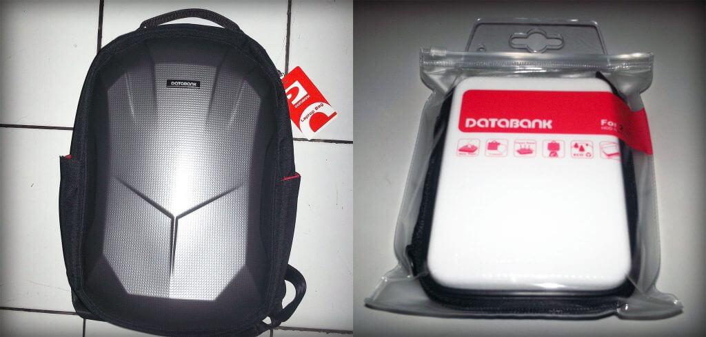Databank backpack hardcase & Databank external harddisk hardcase