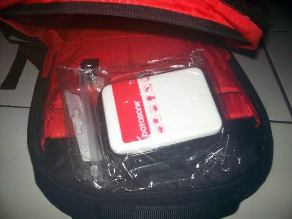 Databank external harddisk hardcase di dalam backpack hardcase Transformer