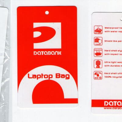 Label backpack hardcase merek Databank
