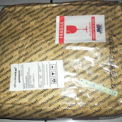 Paket kiriman JNE dari Dinomarket - Databank backpack hardcase