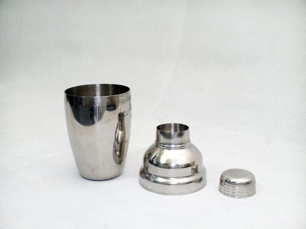 Shuma Cocktail shaker, terpisah per bagian