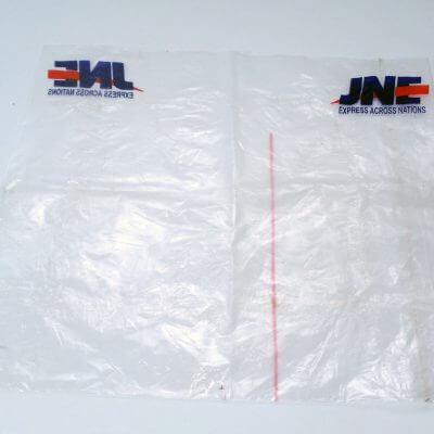Bekas plastik pembungkus JNE di paket Bhinneka.com