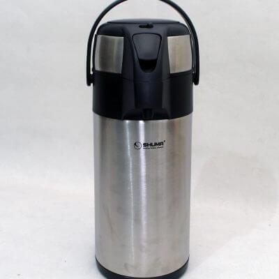 Shuma Stainless Steel Vacuum Airpot (tampak depan)