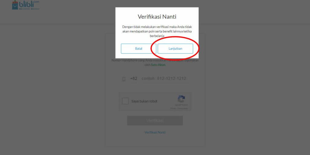 "Belanja Online di Blibli.com, Bayar dengan BCA KlikPay - Klik tombol ""Lanjutkan""."