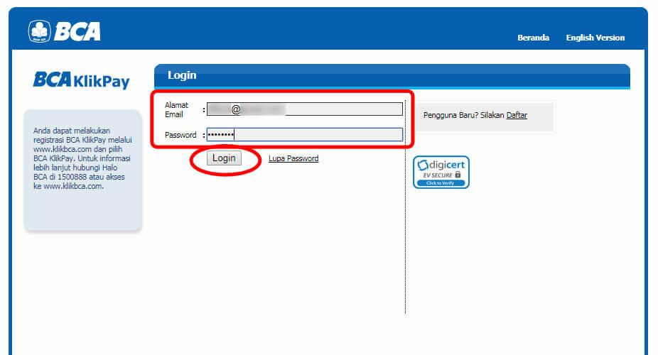 Belanja Online di Blibli.com, Bayar dengan BCA KlikPay - Login ke BCA KlikPay.