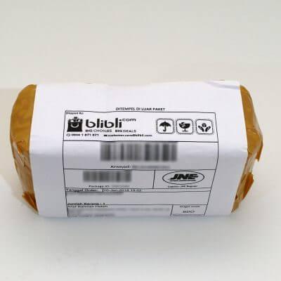 Paket pembelian dari Blibli.com dengan pembayaran BCA KlikPay.